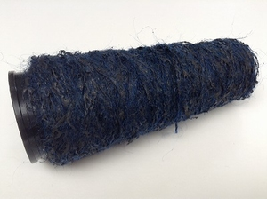 Latex (rubber) Mohair Dark Blauw  100 meter /cone