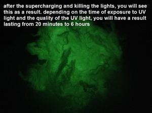 Glow in the dark fiberes  1 zakje/pack