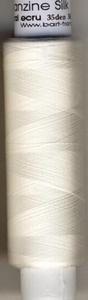 Organza  seide 66 Den /gekocht (poliert) Ecru Naturel  1000 meter/cone