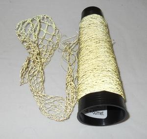 Micro glas Bead thread very fine  = 60/1 Nec goldcolour  50 meter/cone