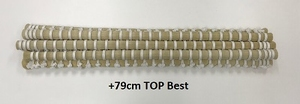 Horsehair tail  +79 Cm long special white natural color  1 botte