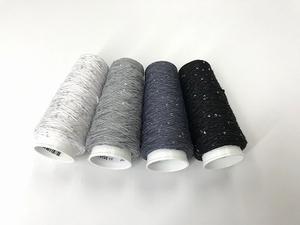 Coton Paillette  super colors black whites  4 cones