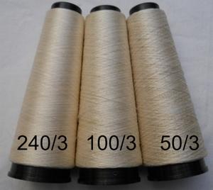 Cordonnet silk Schappe Ecru Naturel  240/3 Nm  500 meter/cone
