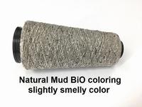 Bourette de Luxe zijde 20 Nm Natural mud bio coloring 500 meter/cone