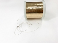 experimental flatened copper wire  special golded 18K rozé 1 cone