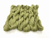 wet spun old tradition knitting special color grass green 100gr  120met