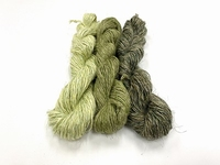 wet spun old tradition knitting special color 3 GREENS  3 strengen