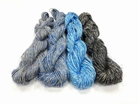 wet spun old tradition knitting special color 4 BLEU  4 hank echeveau