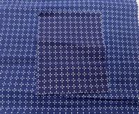 WOVEN USA pima cotton natural indigo Shibori print 150cm 125gr/sqm